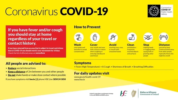 Covid 19 Advice from HSE Ireland
